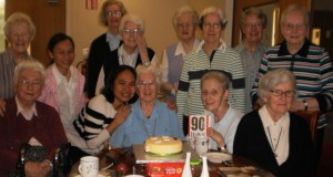 Sr. Helen Reynolds celebrating her 90th  birthday