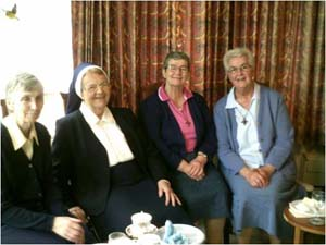 From Left to Right: Sr. Yvonne Pepper RNDM Sr. Winifred Kett RNDM, Sr. Elizabeth O'Hara RSM (On regional Team for Southwark Diocese) and Sr. Helen Currie RNDM