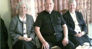 From left to right :  Sr. Pauline McDonald RNDM, Rev Jim Hurley (Vicar for Religious Southwark Diocese)  and Sr. Aileen SHJM