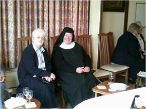 From Left to Right:  Sr. Aelred OSB   (Minster Abbey) and Sr. Cecilia Cleary RNDM