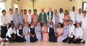 RNDM temporary professed Sisters' and Archbishop of Davao, Philippines 2015